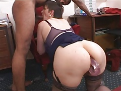 Hiry big tits mature ass fucked by black cock (Camaster)
