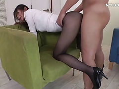 neighbour heels in pantyhose high heels