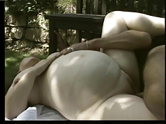 Pregnant German Milf - Outdoors Anal