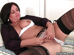 Soccer milf with big tits needs to get off