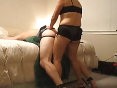 Strapon Wife Using Hubby's Ass