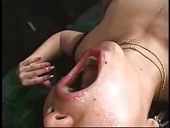 Horny Asian strips and fingers her wet box and get fucked